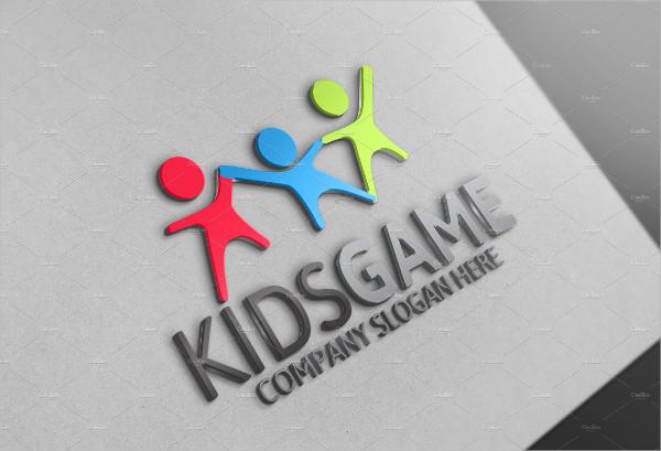 Colorful Kids Game Logo Design