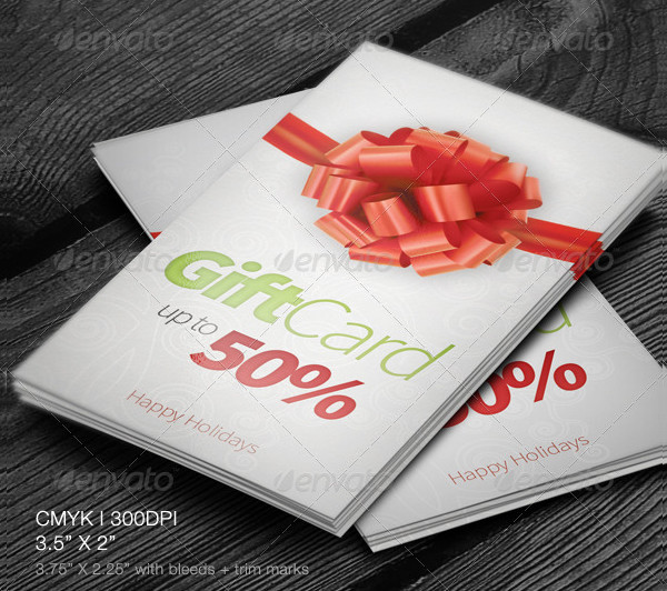 Cool Holiday Gift Cards Templates