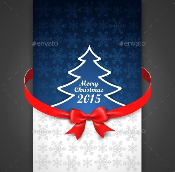 Cool Holiday Menu Card Template