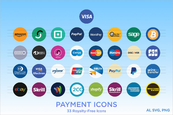 Cool Payment Type Icons
