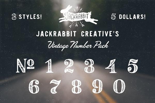 Cool Vintage Number Pack