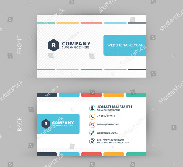 Creative & Clean Business Card Template in Flat Design