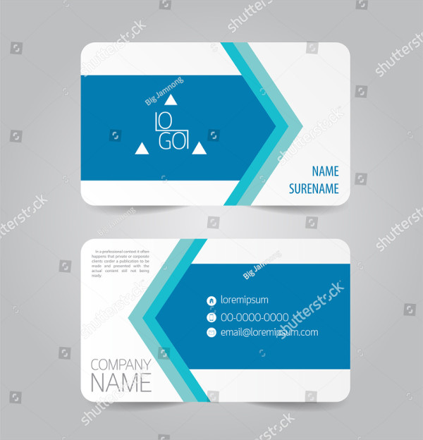 Creative Name Card Vector Design