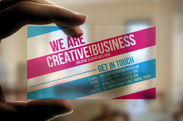 Creative Plastic Business Card Design