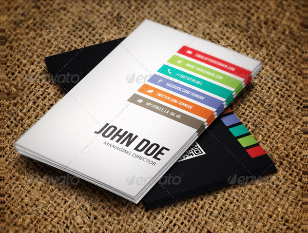 Creative Wooden Business Card Design