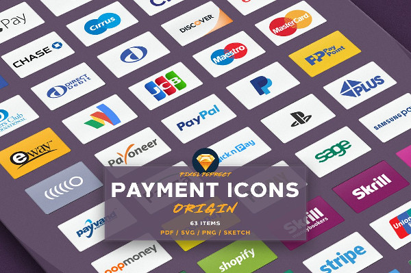 Credit Card or Payment Vector Icons
