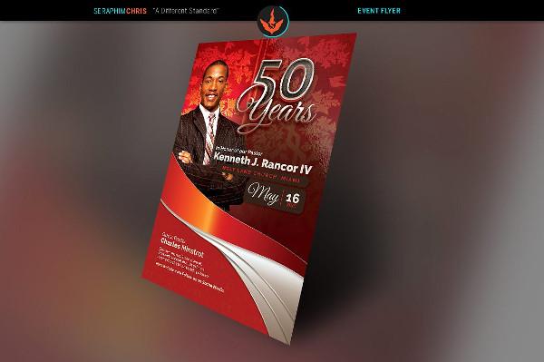 Crimson Pastor Anniversary Flyer