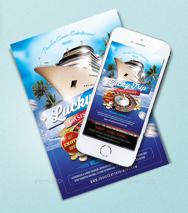 Cruise Casino Flyer Template