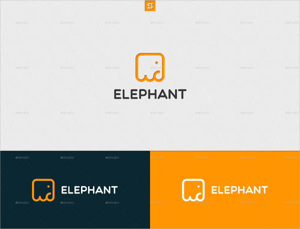 Custom Elephant Logo Template