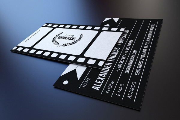 Custom Film Industry Business Cards