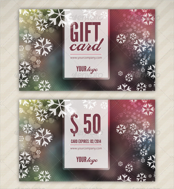 Custom Holiday Gift Card Design