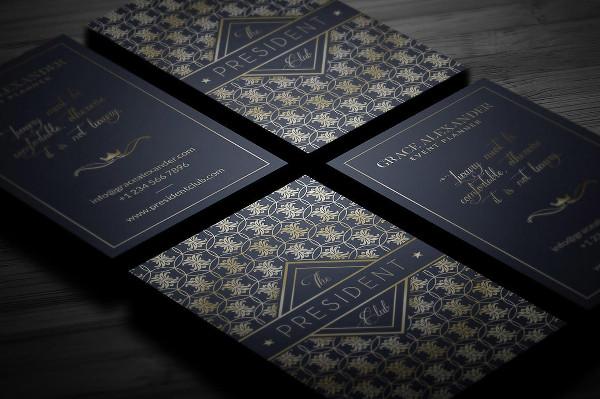 Custom Luxury Business Card Template