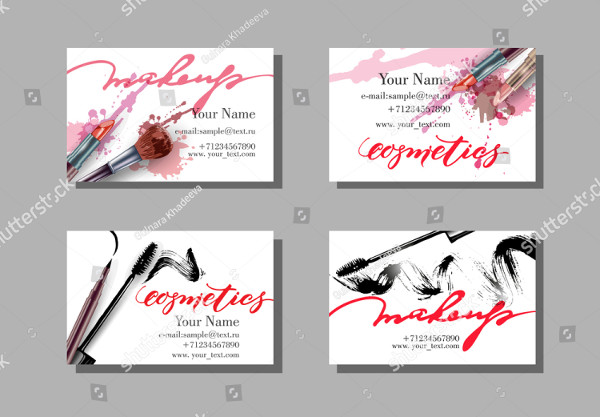 Custom Makeup Artist Business Cards Set