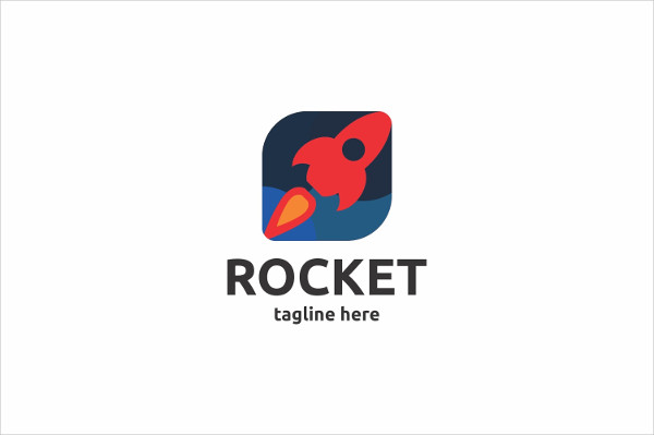 Custom Rocket Logo Template