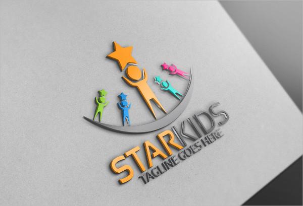 Custom Star Kids Logo