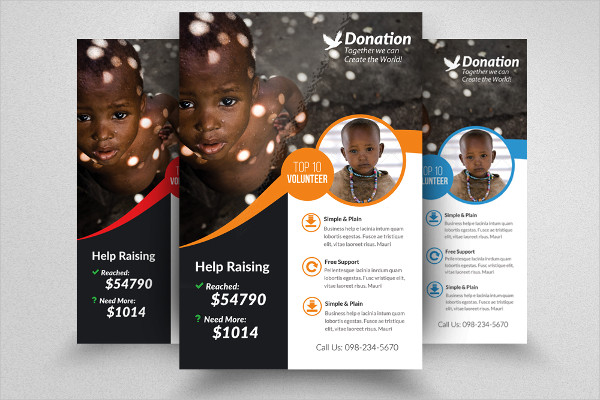 Customisable Donation Flyer Templates