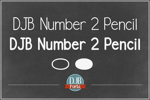 Cute Number Pencil Fonts