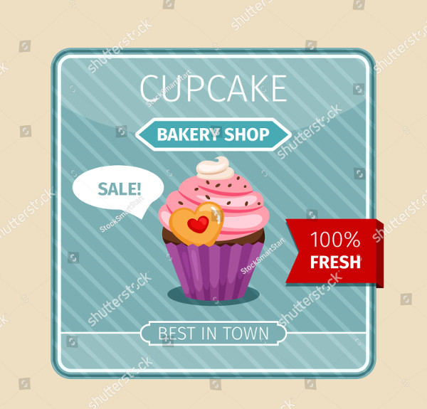 Cute Invitation Card Pink Cupcake with Heart