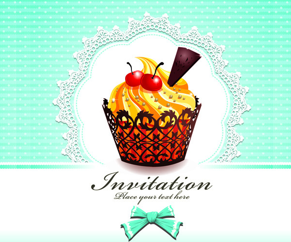 Cute Cupcakes Invitations Cards Free