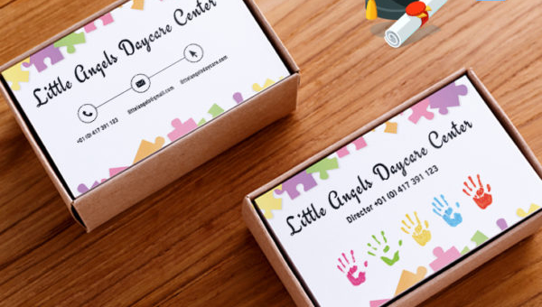 Daycare business card templates 15 free premium designs download daycare business card templates flashek Image collections