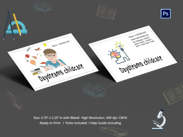 Free Daycare Business Cards Design Download
