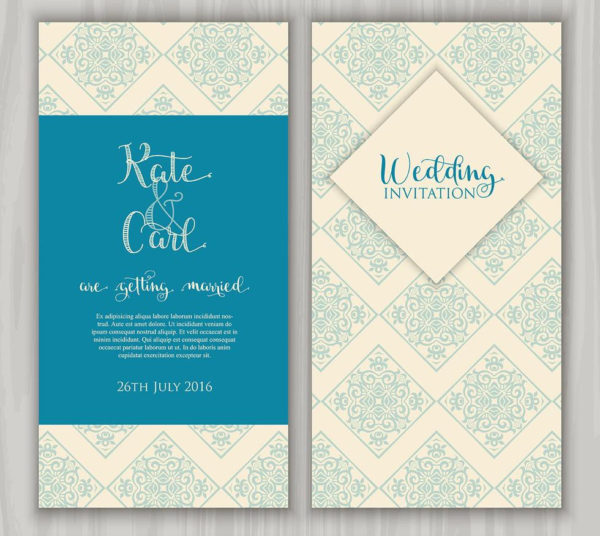 Decorative Wedding Invitation Free Download