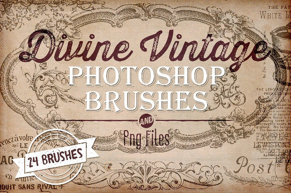 Divine Vintage Musical Photoshop Brushes