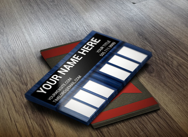 Custom Doctor Who Business Card