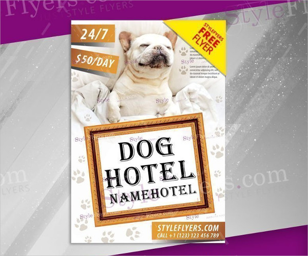 Dog Hotel Promotion Free PSD Flyer Template