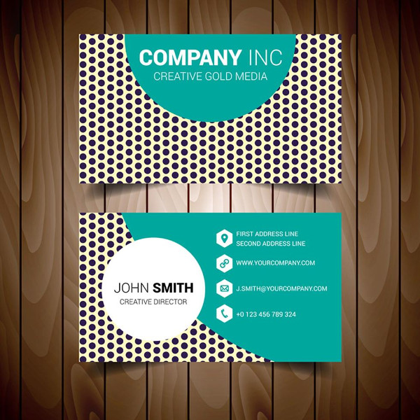 Dotted Modern Business Card Free Download