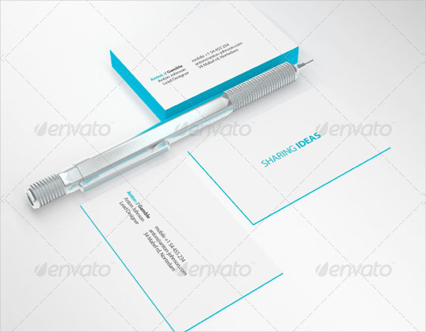 Edge Painted Business Card Mock-up