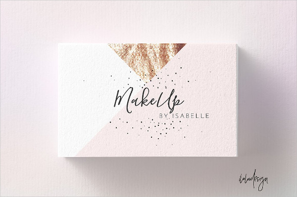 Editable Geometric MakeUp Business Card