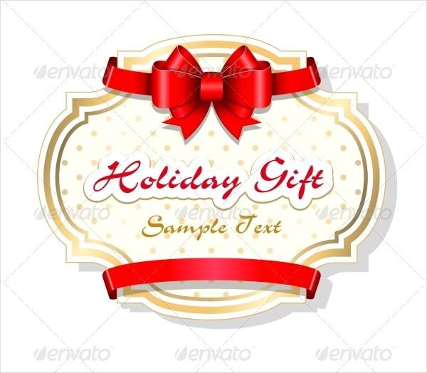 Editable Holiday Gift Card Design