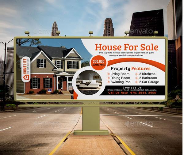 Editable Real Estate Billboard Designs