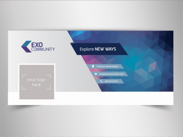 Editable Timeline Cover Template Free