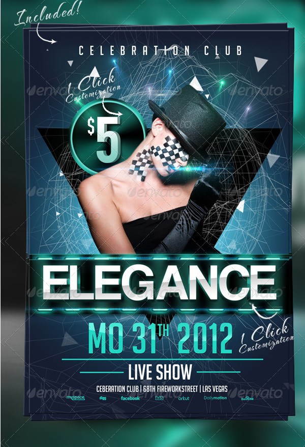 Elegance Club Flyer Template
