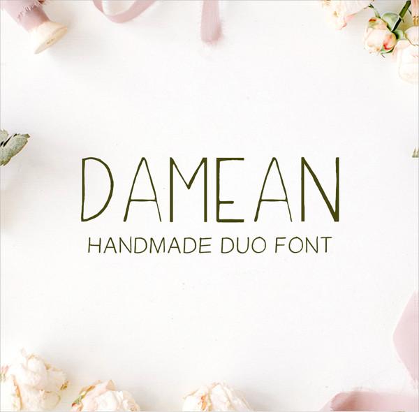 Elegant Handmade Duo Font