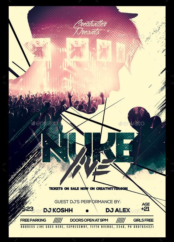 Elegant Live Concert Poster Template