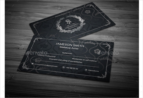 Elegant MakeUp Artist Business Card Design