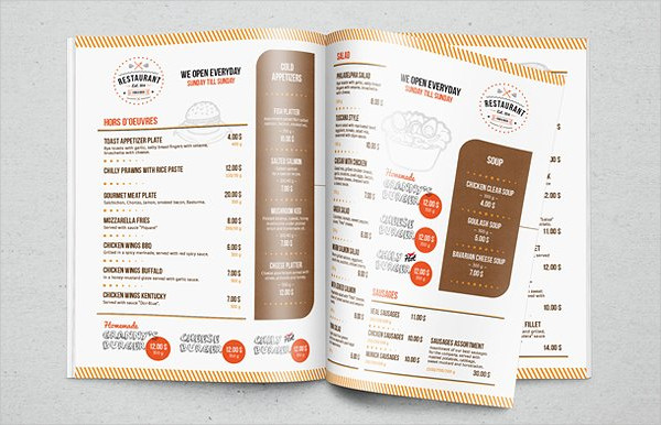 Elegant Menu InDesign Template