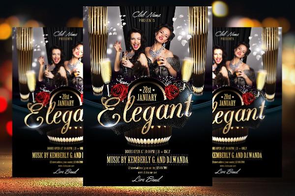 Elegant Anniversary Flyer Template