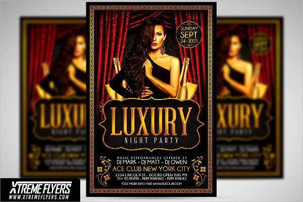 Elegant VIP Party Flyer Template