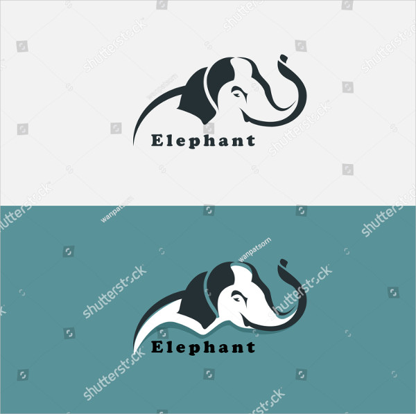 Elephant Design Template Vector