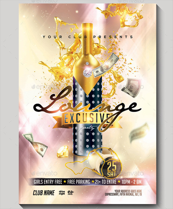 Exclusive Champagne Flyer Template