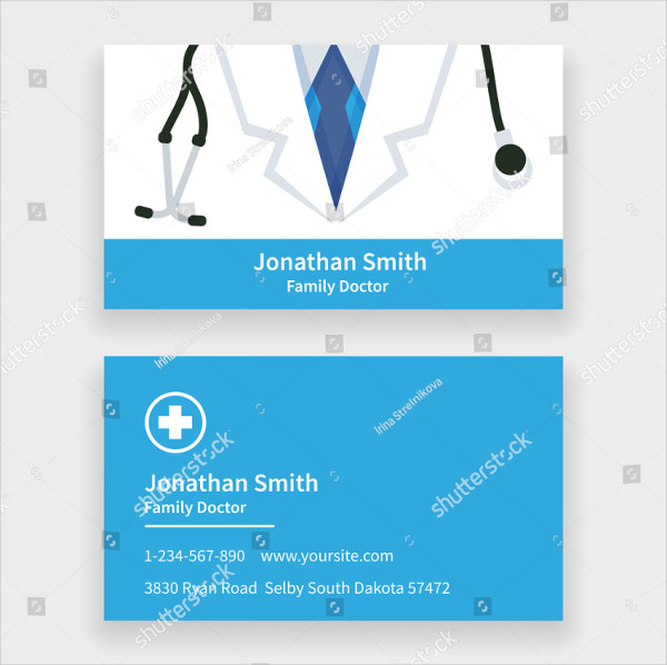 Family Doctor Business Card Template