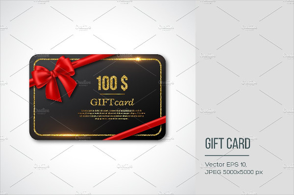 Famous Holiday Gift Card Design
