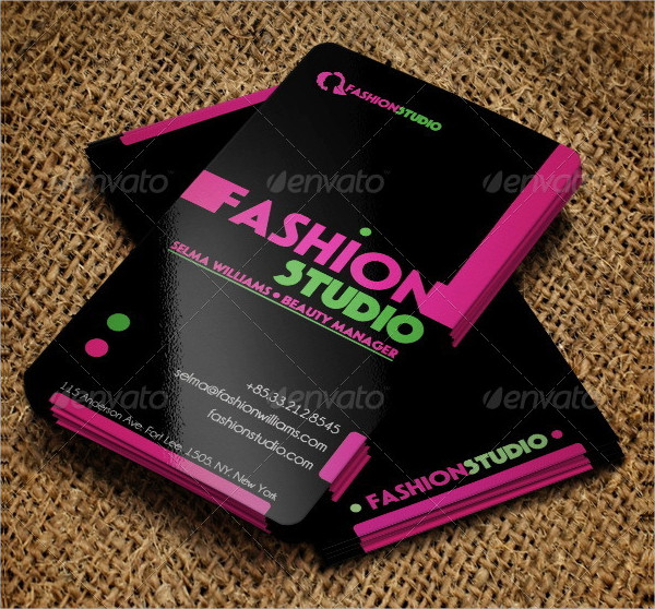 Fashion Studio Business Cards Template