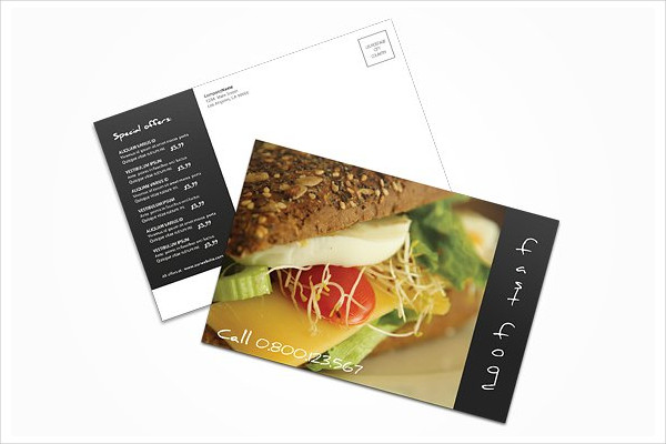 Fast Food Postcard Template