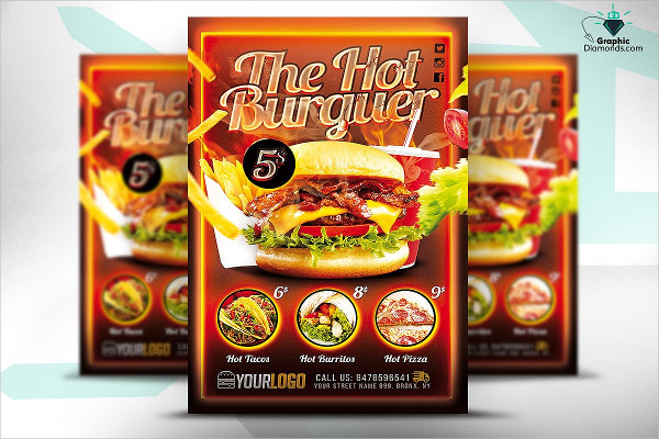Fast Food Promotion Flyer PSD
