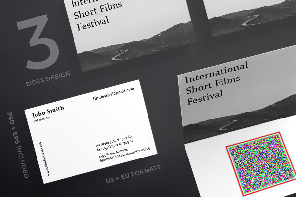 Film Festival Business Cards